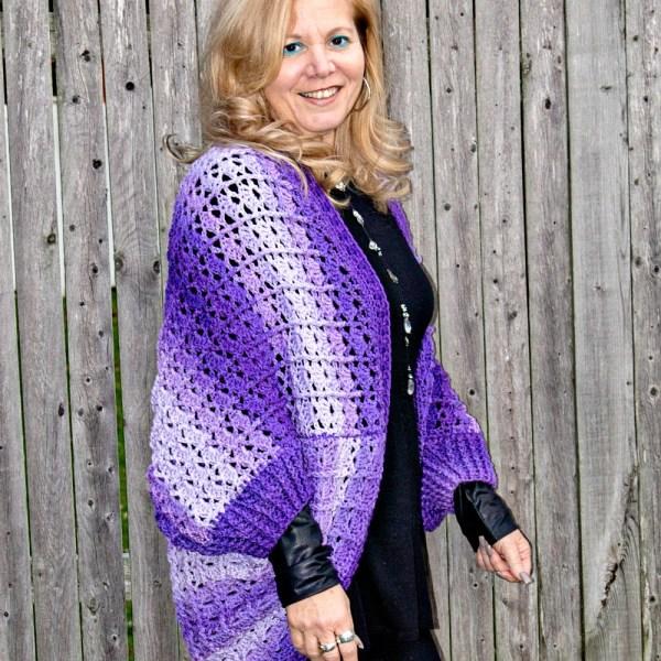 Free Crochet Pattern: Snuggler Cardigan Sweater