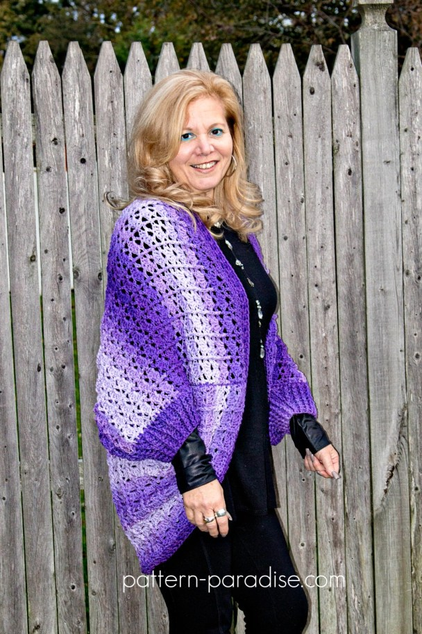 Free Crochet Pattern Snuggler Cardigan Sweater Pattern Paradise