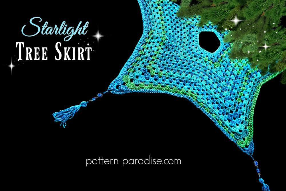 Free Crochet Pattern: Starlight Tree Skirt