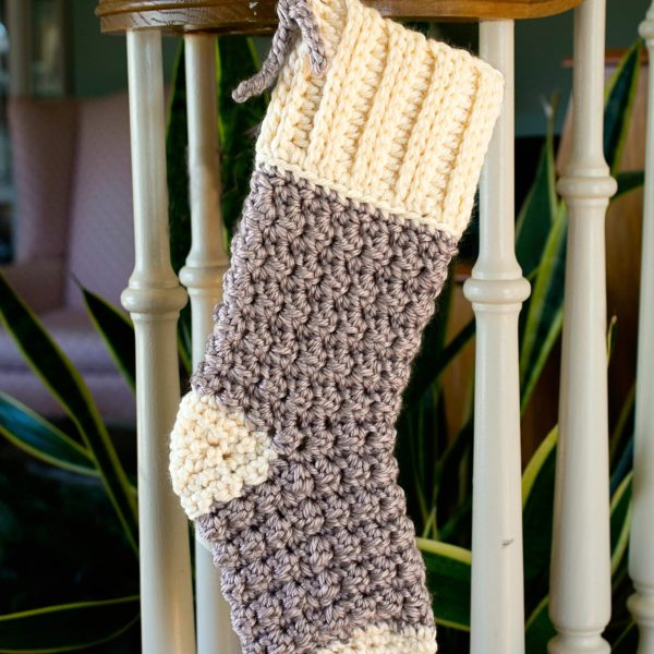 Free Crochet Pattern: Cozy Cottage Christmas Stocking