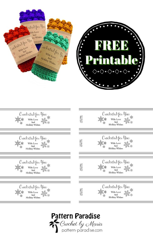 It's just a graphic of Adorable Printable Crochet Labels