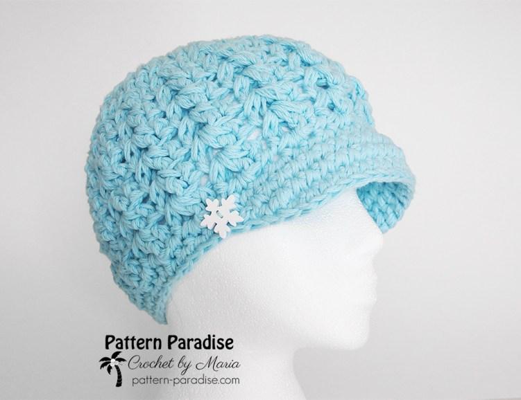 Free Crochet Pattern Felicity Newsboy Hat Pattern Paradise