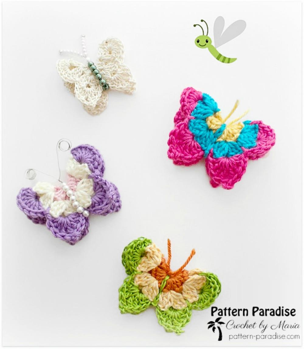 Free Crochet Pattern: Butterflies | Pattern Paradise
