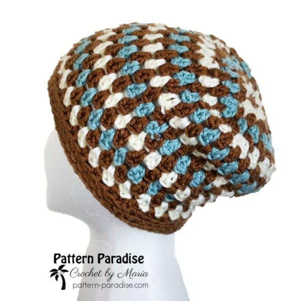 Free Crochet Pattern: Diamonds & Gems Slouchy Hat