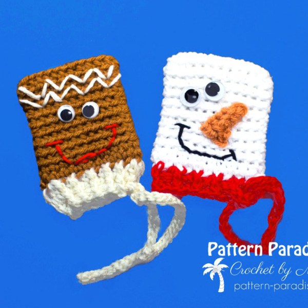 Free Crochet Pattern: Frosty & Ginger Gift Card Holders