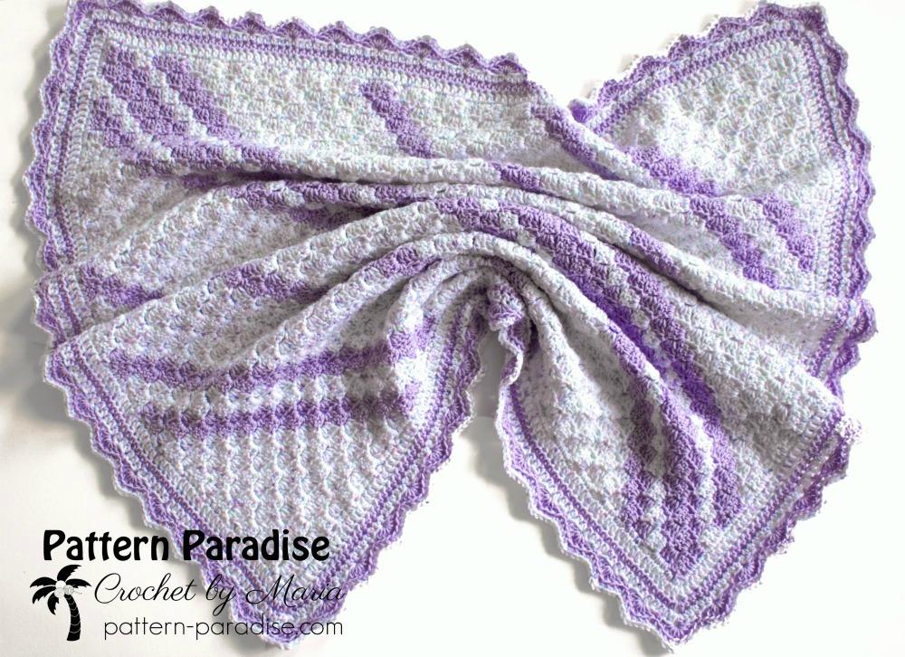 Free Crochet Pattern: Confetti C2C Baby Blanket | Pattern