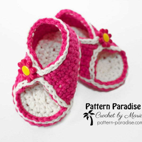 Free Crochet Pattern: Peek-A-Boo Sandals