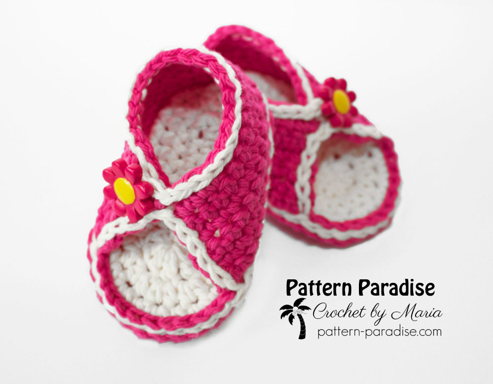 Free Crochet Pattern: Peek-A-Boo Sandals | Pattern Paradise