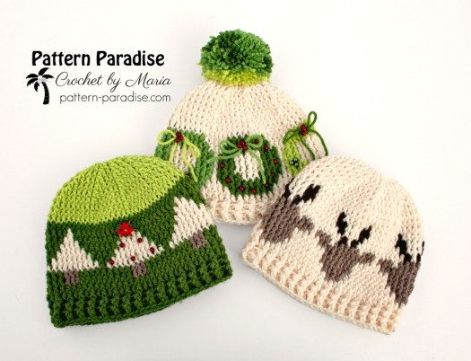 Free Crochet Pattern: Christmas Tree Hat