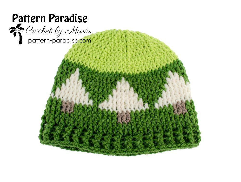 Free Crochet Pattern: Christmas Tree Hat   Pattern Paradise