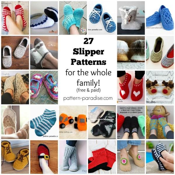 Crochet Finds – Crocheted Slippers!