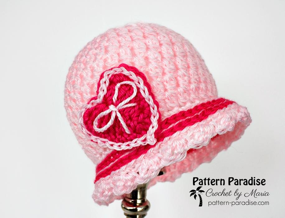 Free Crochet Pattern: Sweetheart Cloche