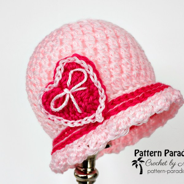Free Crochet Pattern: Sweetheart Cloche