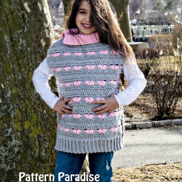 Free Crochet Pattern: Sweetheart Poncho