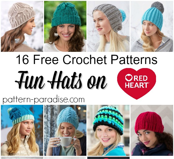 Crochet Finds – Red Heart Hats!