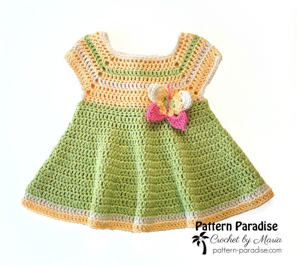 264d124b Free Crochet Pattern: Butterfly Kisses Dress   Pattern Paradise