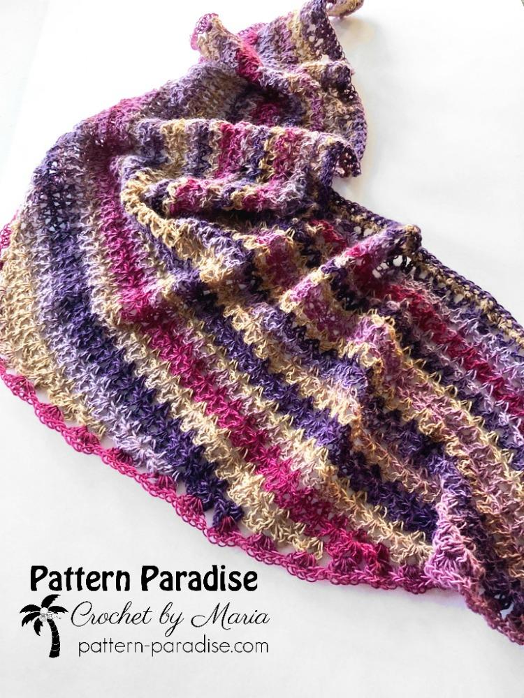 Free Crochet Pattern Northampton Shawlette Pattern Paradise