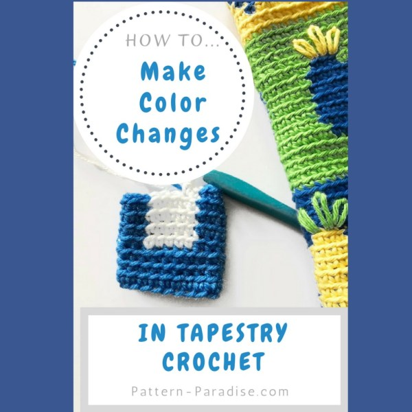 Tutorial: Tapestry Crochet Carrying Color