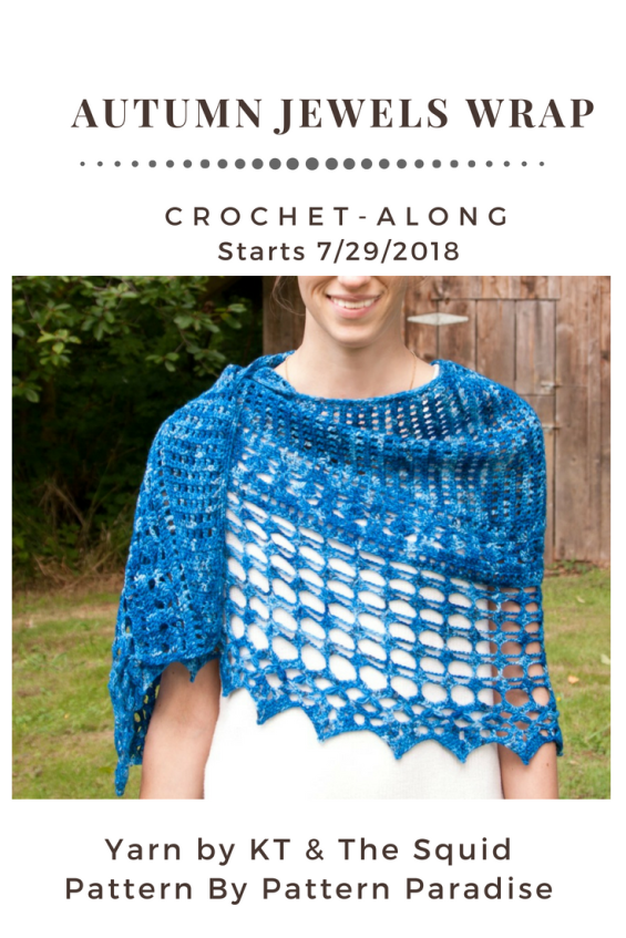 Crochet Pattern for Autumn Jewel Wrap