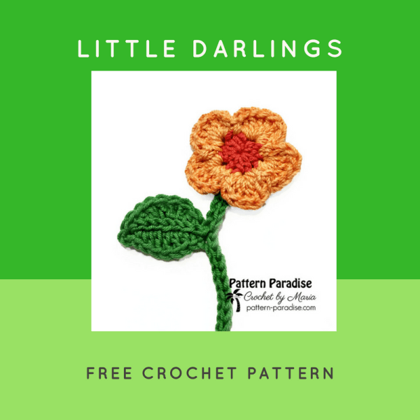Free Crochet Pattern: Little Darlings Flowers