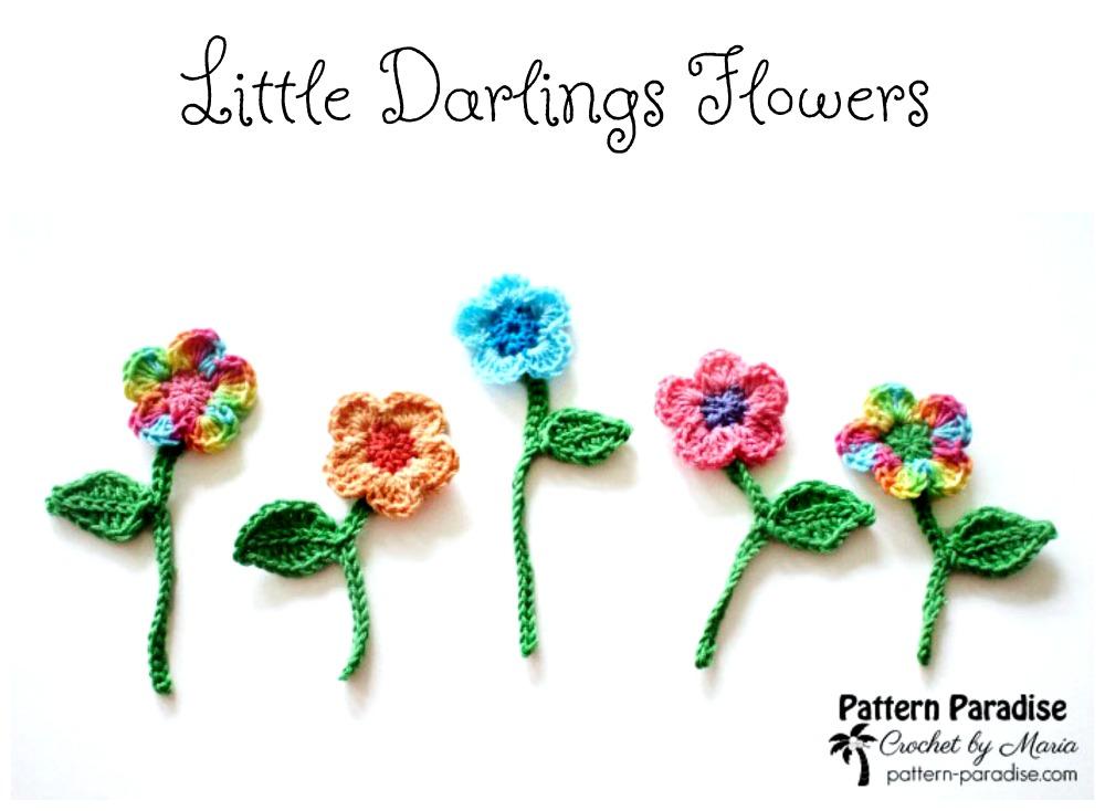 Free Crochet Pattern Little Darlings Flowers Pattern Paradise