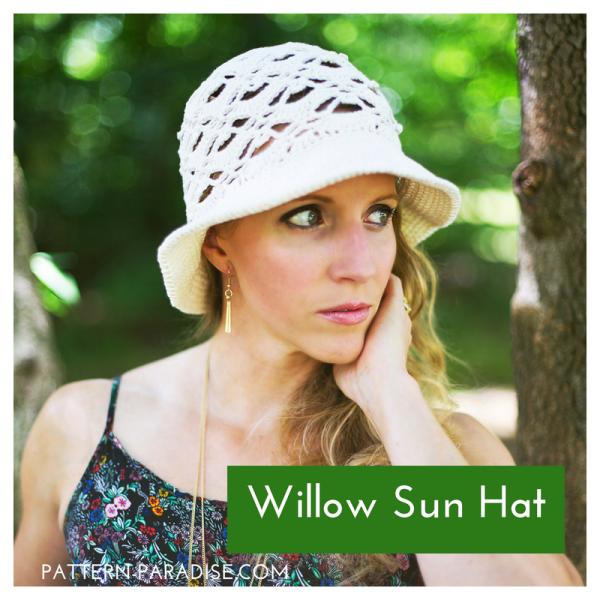 Crochet Pattern: Willow Sunhat
