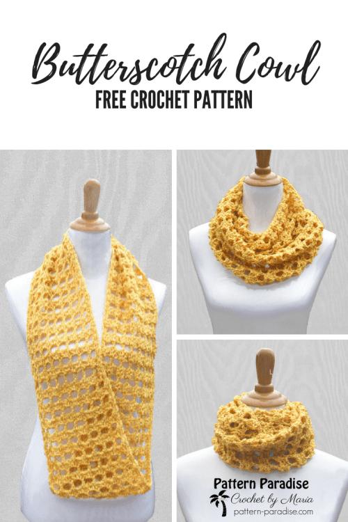Free Crochet Pattern Butterscotch Cowl Pattern Paradise