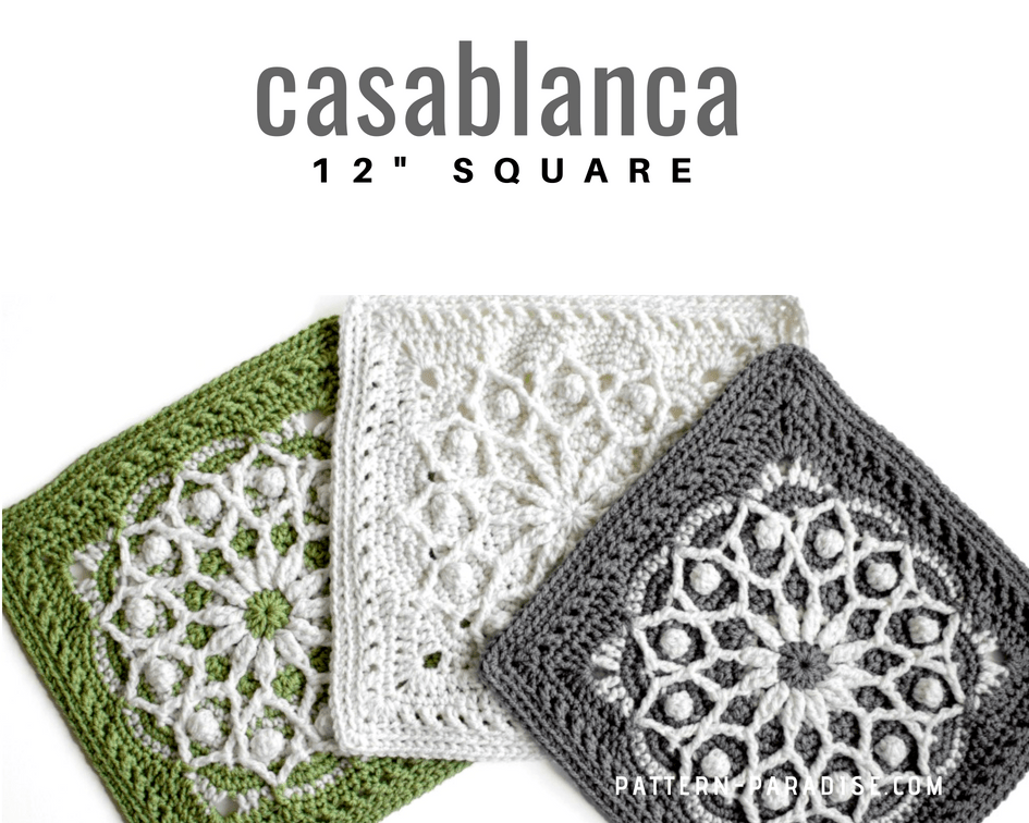 Free Crochet Pattern Casablanca Crochet Square Pattern Paradise