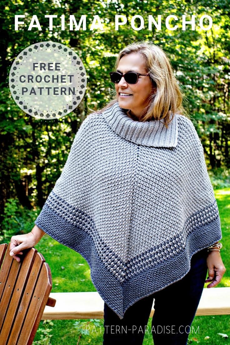 Free Crochet Pattern Fatima Poncho Pattern Paradise