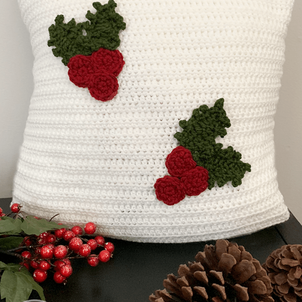 #12WeeksChristmasCAL – Holly Jolly Christmas Pillow