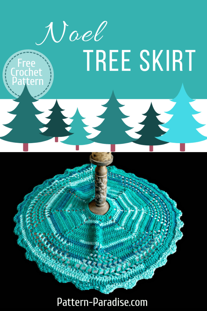 12weekschristmascal Noel Tree Skirt Pattern Paradise