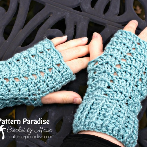 Free Crochet Pattern: Charmed Fingerless Gloves