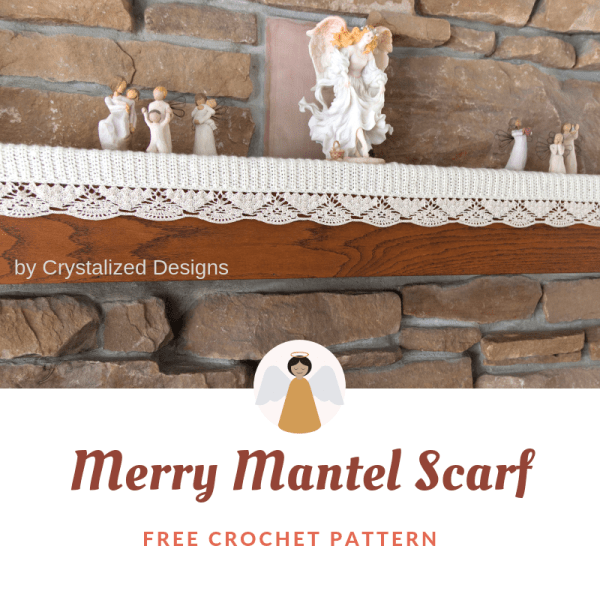 #12WeeksChristmasCAL – Merry Mantel Scarf