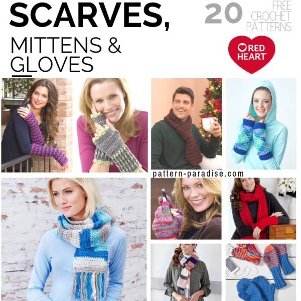 Crochet Finds – Scarves, Mittens & Gloves with Red Heart!