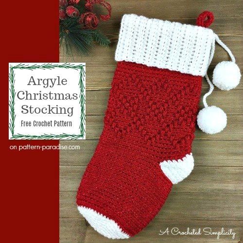 #12WeeksChristmasCAL – Argyle Stocking