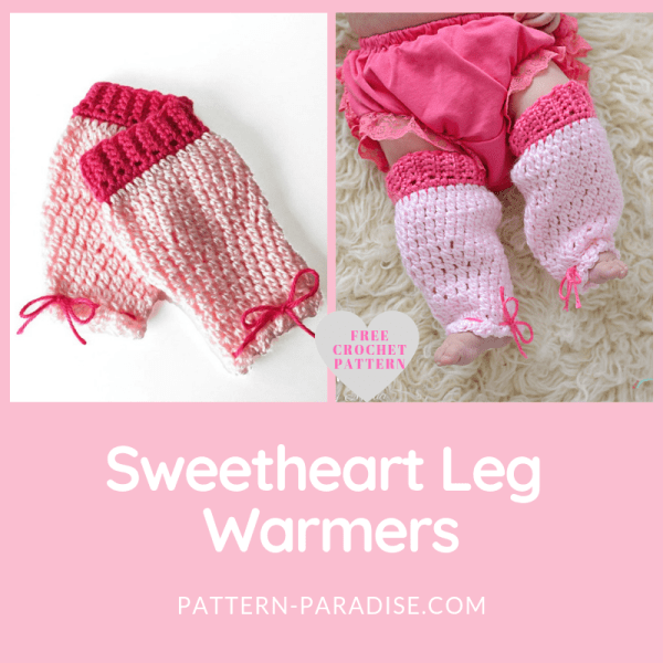 Free Crochet Pattern: Sweetheart Leg Warmers