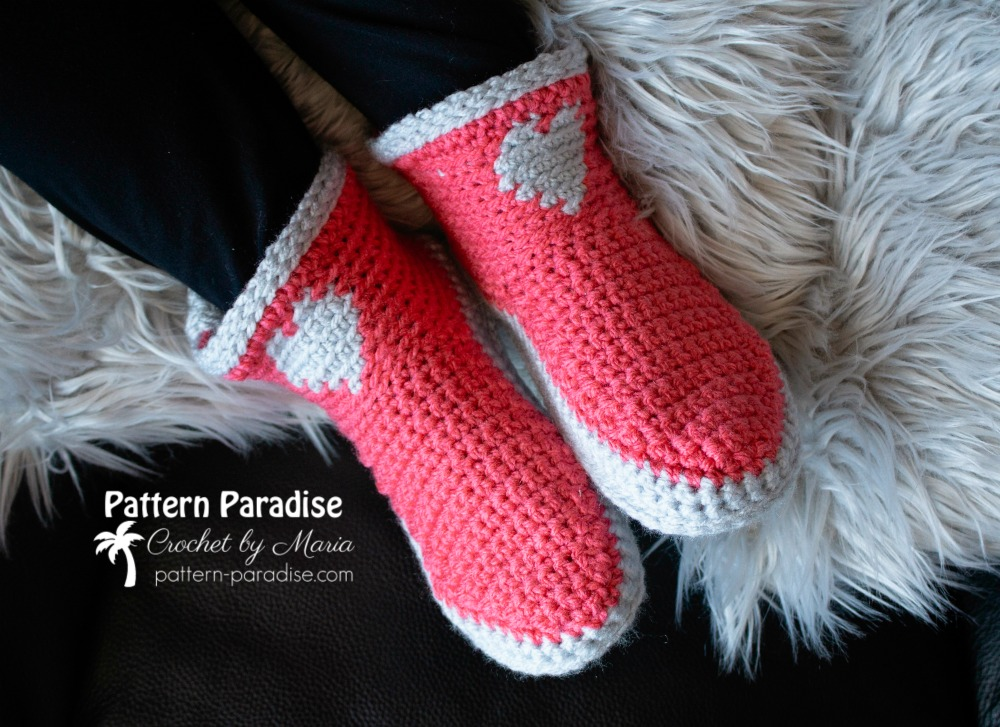 Free Crochet Pattern Made With Love Slippers Pattern Paradise