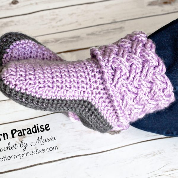 Free Crochet Pattern: Celtic Weave Slippers