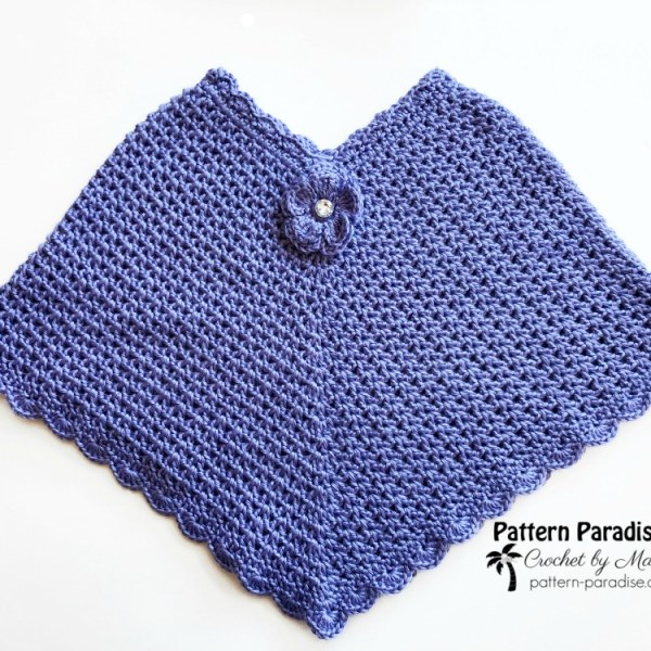 Free Crochet Pattern: Lilac Breeze Poncho