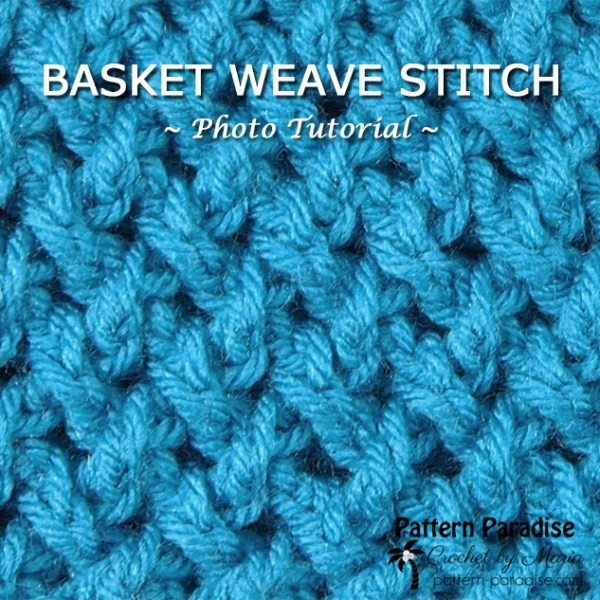 Photo Tutorial: Basket Weave or Criss Cross Stitch