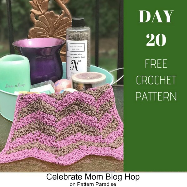 2019 Celebrate Mom Blog Hop – Day 20 Chevron Washcloth