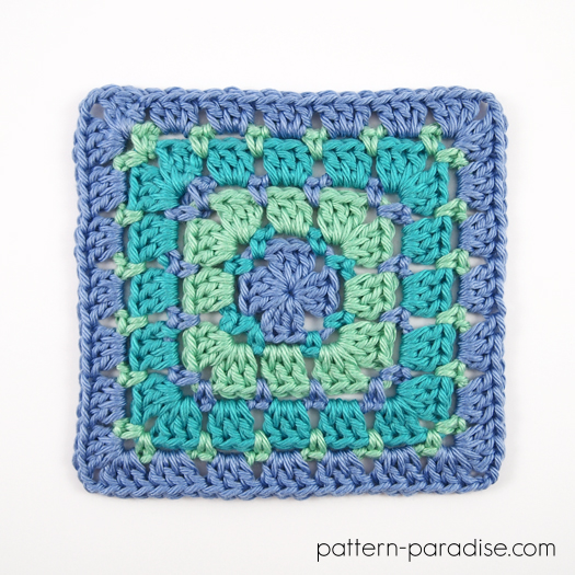Free Crochet Pattern: Block Stitch Square