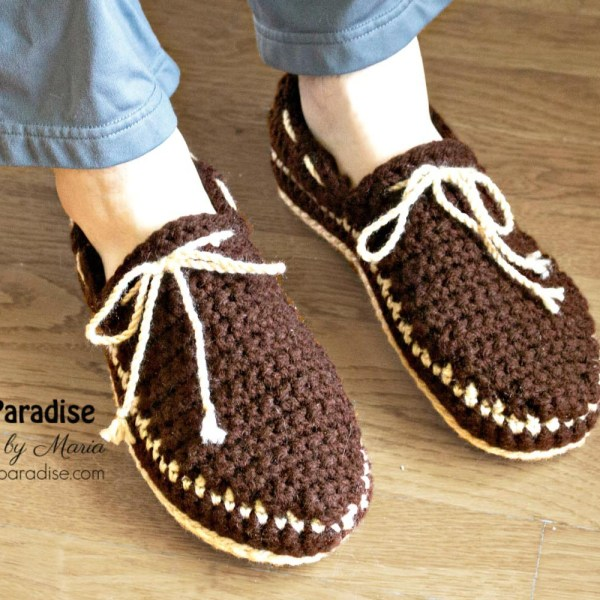 Free Crochet Pattern: Boat Shoe Slippers