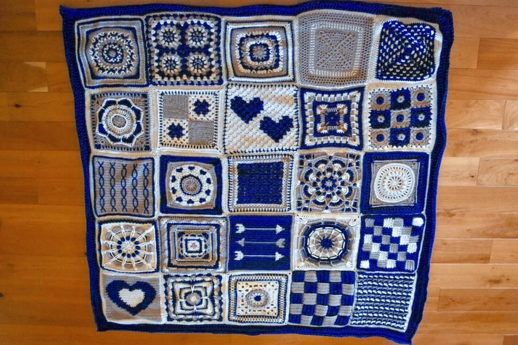 "Circle of Love 12"" Afghan Square"