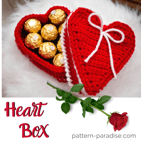 Free Crochet Pattern: Heart Box