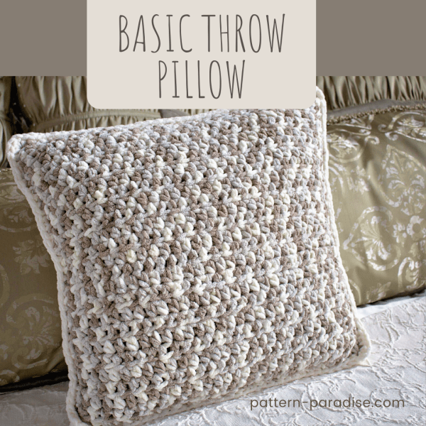 Free Crochet Pattern: Basic Throw Pillow