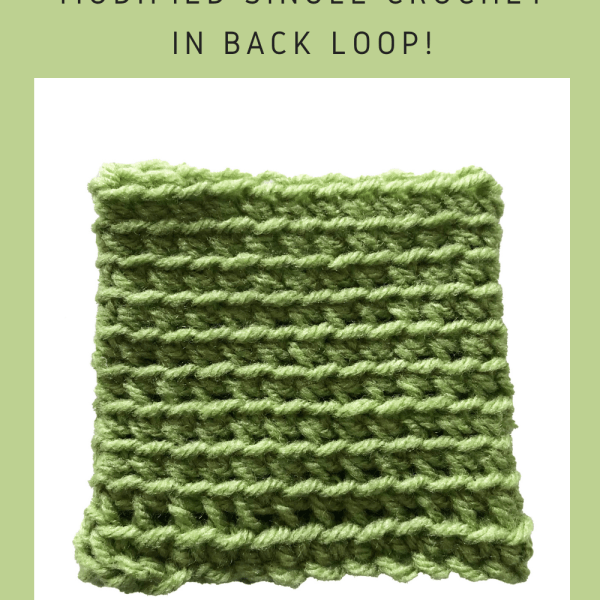 Tutorial: Modified Single Crochet in BLO
