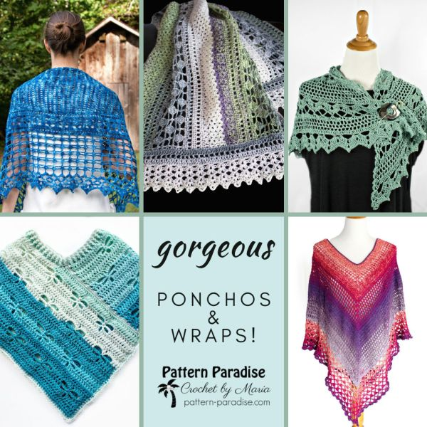 Crochet Finds – Ponchos and Wraps are Fun to Wear!