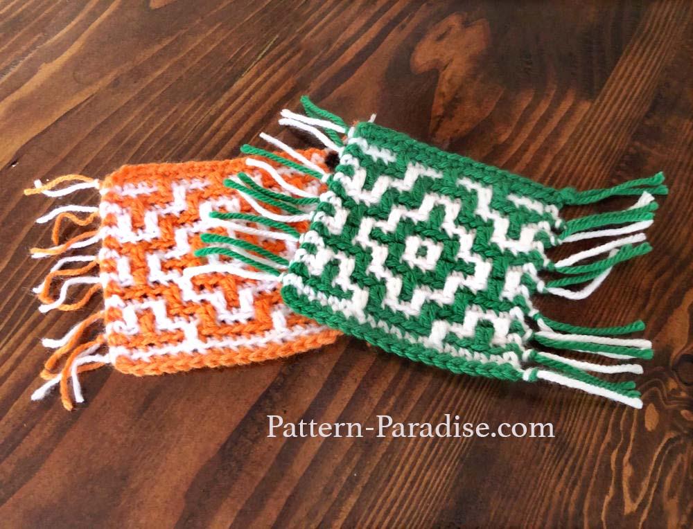 Mosaic Crochet Mug Rug