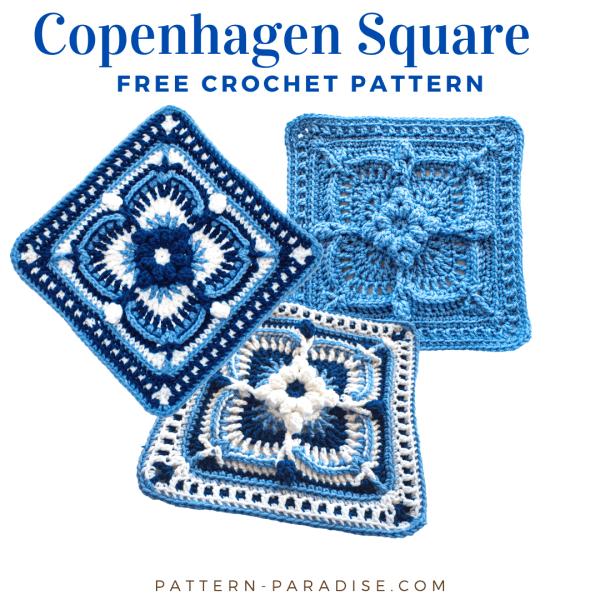 Free Crochet Pattern: Copenhagen Crochet Square
